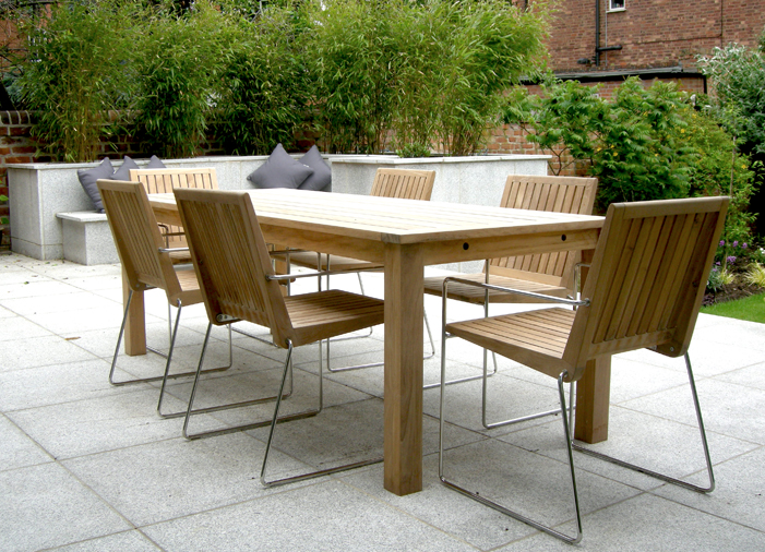 Customer photos antibes table and tripoli chairs bau for Cheap modern garden furniture uk