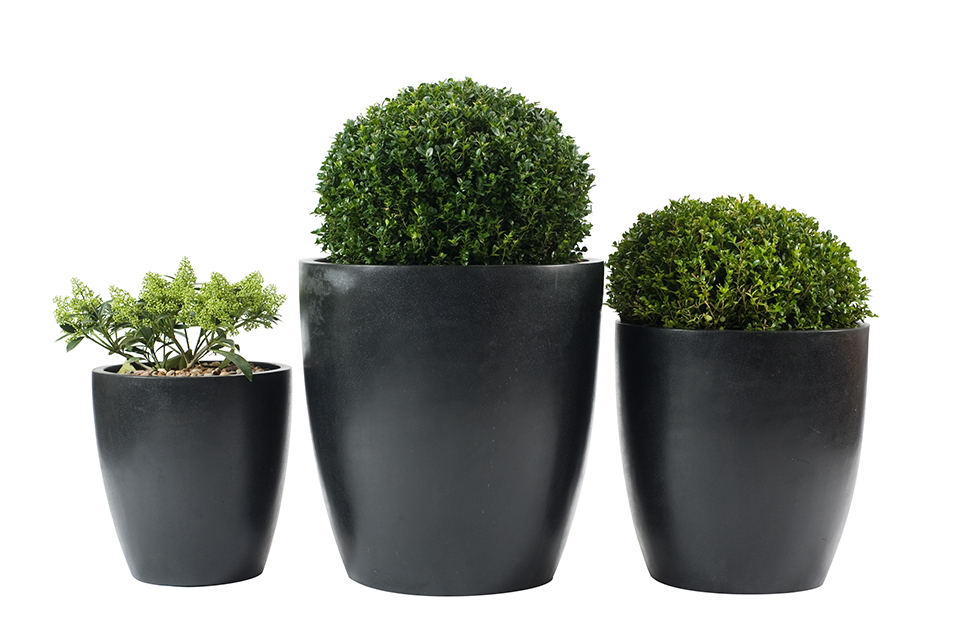 Black Ceramic Planters Bau Outdoors