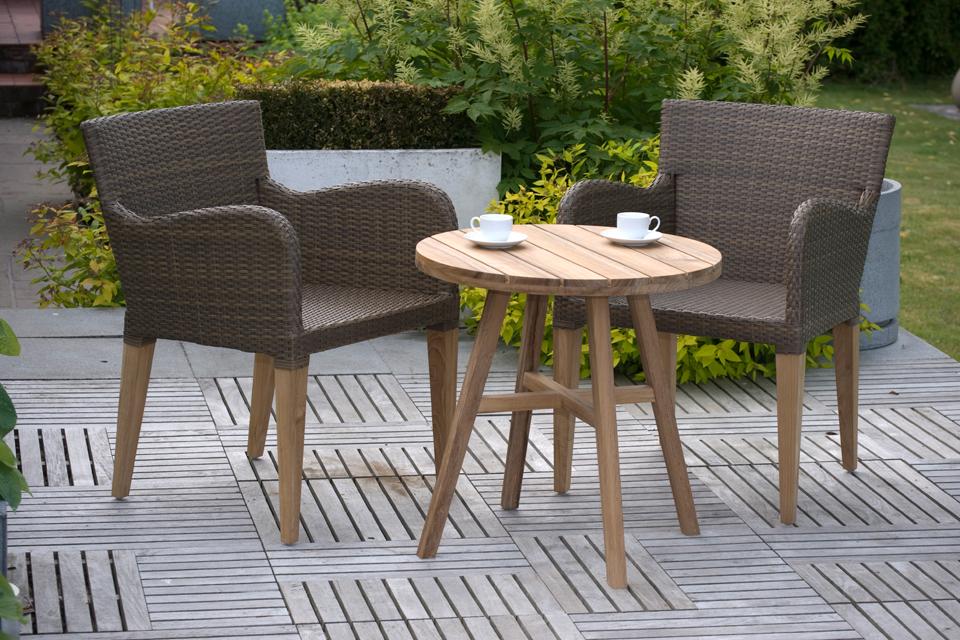 Rufus Contemporary Garden Table 60cm Bau Outdoors