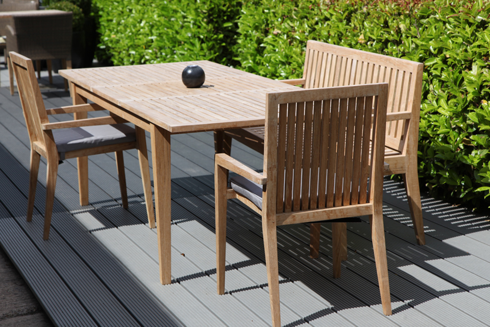 Hampstead Extending Garden Dining Table Bau Outdoors