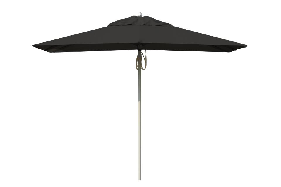 Contemporary aluminium parasol black bau outdoors - Parasol deporte aluminium ...