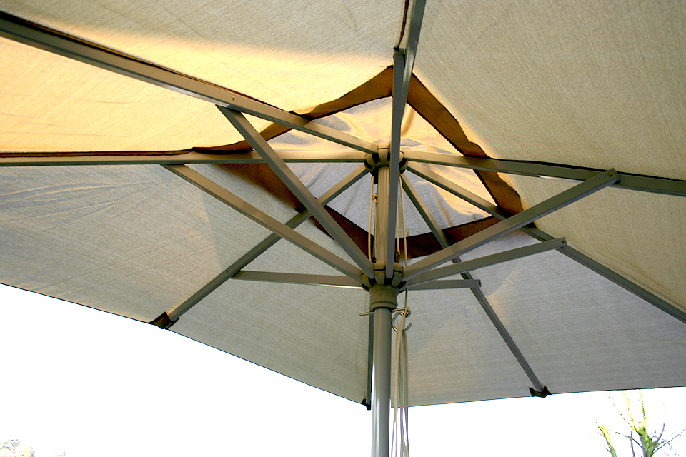 Contemporary aluminium parasol grey bau outdoors - Parasol deporte aluminium ...