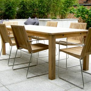 Contemporary garden table customer