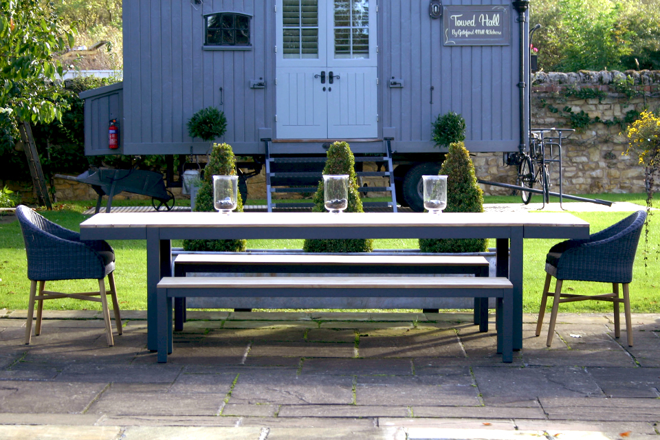 Pleasing Reclaimed Garden Bench Anthracite Bau Outdoors Pdpeps Interior Chair Design Pdpepsorg