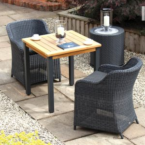 Kol Anthracite Garden dining chair 2