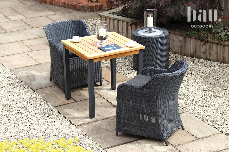 Kol Anthracite Garden dining chair 2